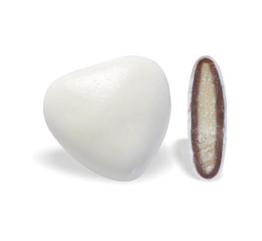 Κουφέτο με Διπλή Σοκολάτα Καρδιά Λευκό 200-210τεμ