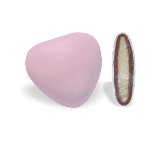 Κουφέτο με Διπλή Σοκολάτα Καρδιά Ρόζ 200-210τεμ