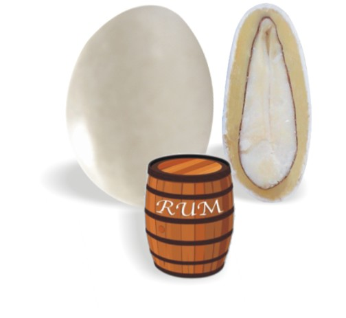 Κουφέτο με Λευκή Σοκολάτα και Ρούμι 190-200τεμ