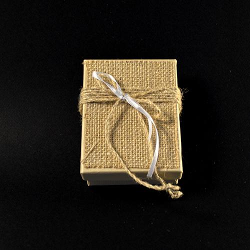 Μπομπονιέρα Κουτί με Λινάτσα